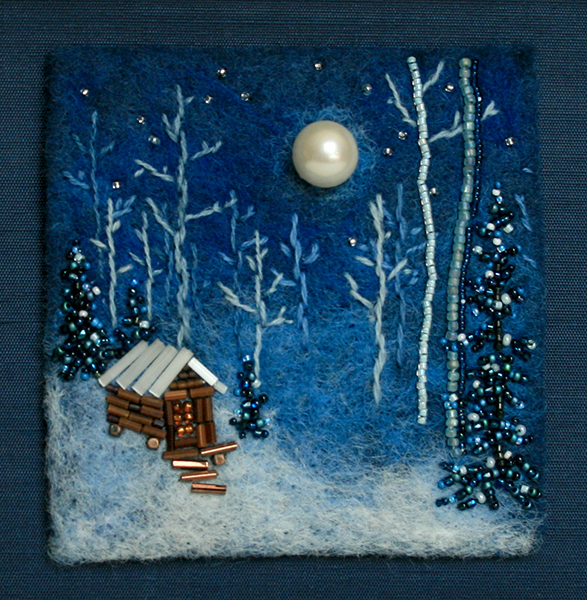 Cabin In Moonlight